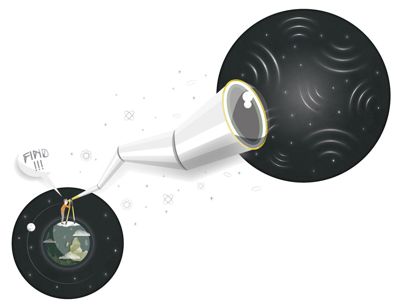 Découvertes des ondes gravitationnelles de l'inflation cosmique.